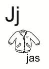 Dibujo para colorear j