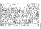 Dibujo para colorear James Ensor