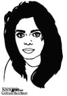 Dibujo para colorear Janet Jackson