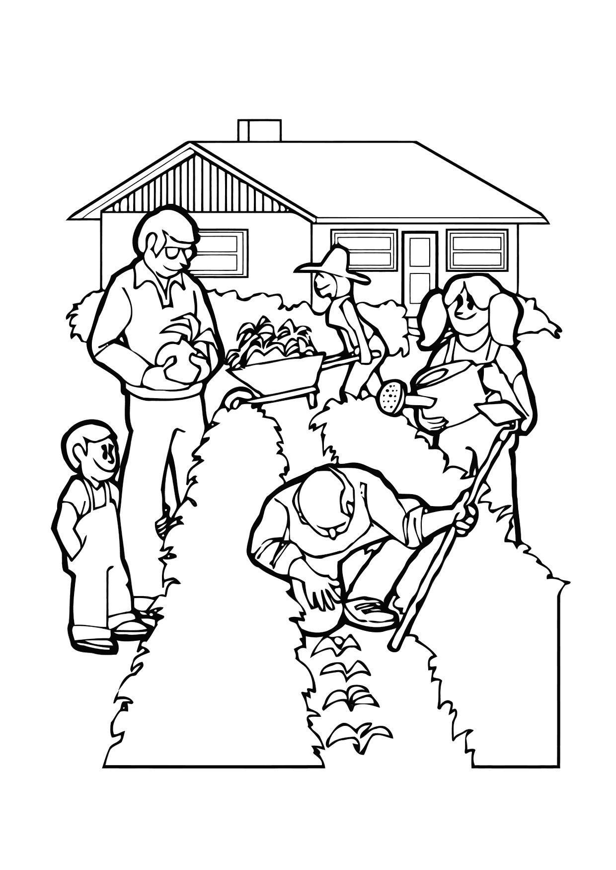 Worksheet. Dibujo para colorear Jardinera  Img 11361