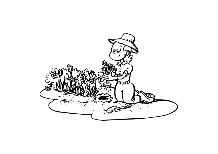 Dibujo para colorear jardiner a img 10402 for Imagenes de jardineria gratis
