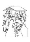 Dibujo para colorear Jardinería