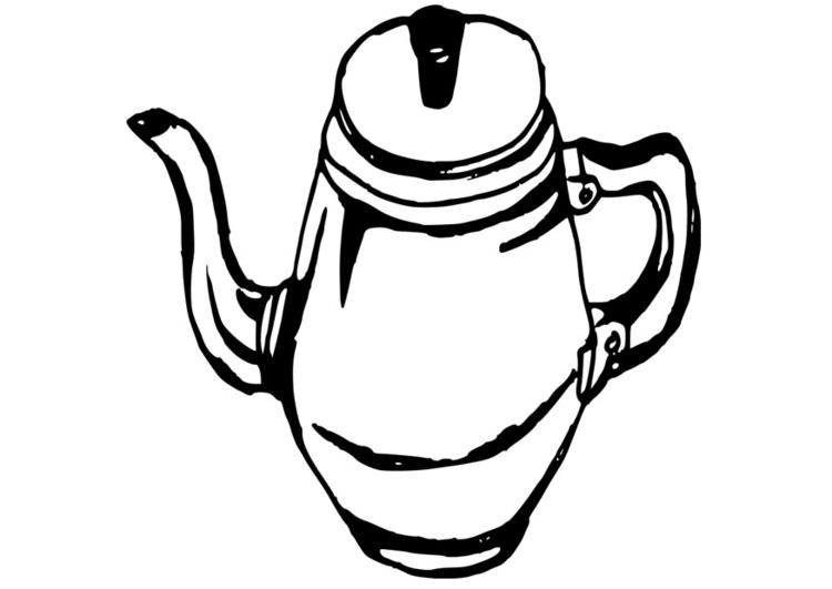 Dibujo Para Colorear Jarra De Café Cafetera Img 19086