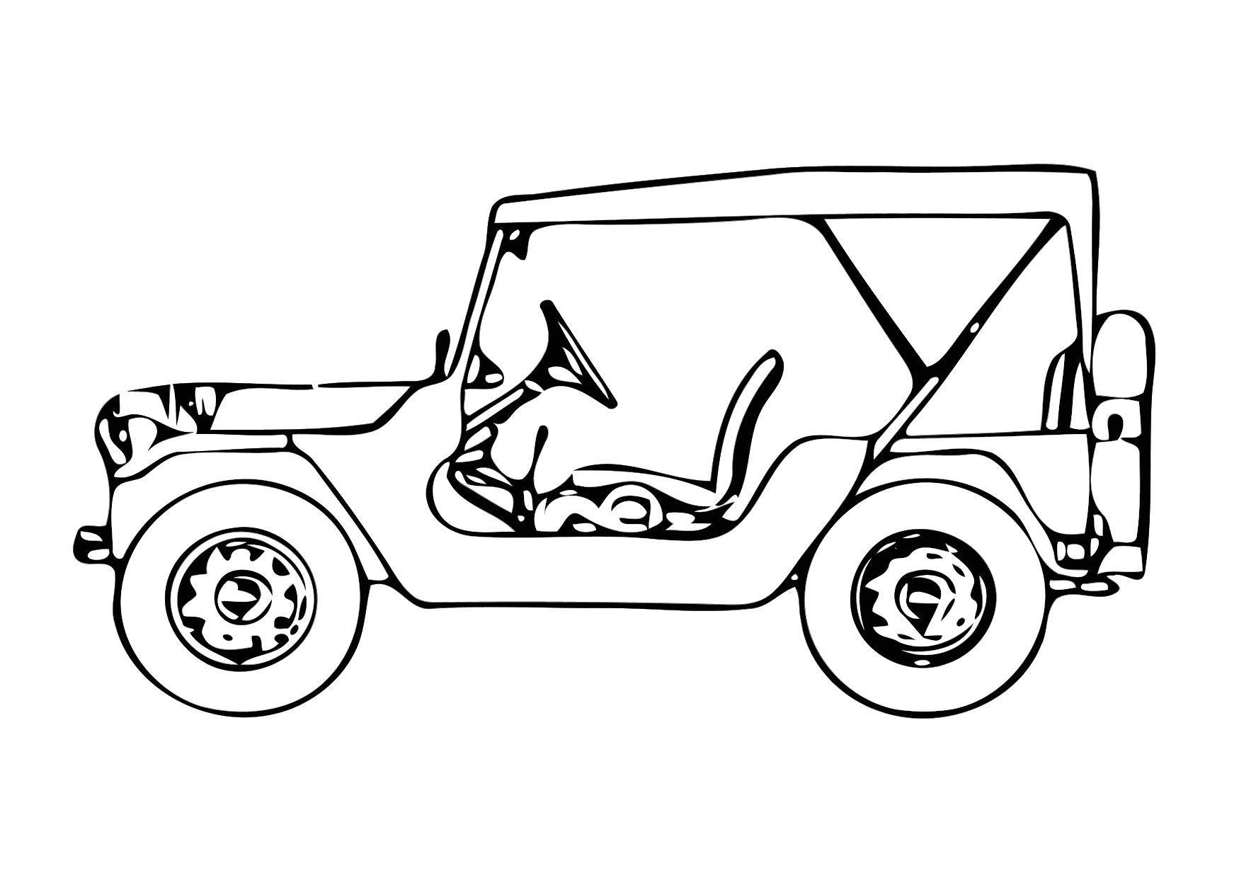 Dibujo para colorear Jeep - Img 11327
