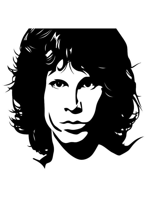 Dibujo Para Colorear Jim Morrison Dibujos Para Imprimir