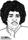 Dibujo para colorear Jimi Hendrix