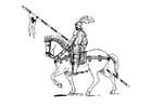 Dibujo para colorear Jinete a caballo