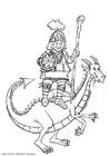 Dibujo para colorear Jinete de dragón