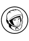 Dibujo para colorear Joeri Gagarin