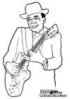 Dibujo para colorear John Lee Hooker