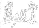 Dibujo para colorear Jolle