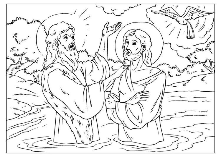 San Antonio En Dibujos Animados: Dibujo Para Colorear Juán El Bautista