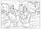 Dibujo para colorear Juán el bautista