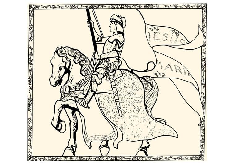 Dibujos San Fermin Para Colorear: Dibujo Para Colorear Juana De Arco