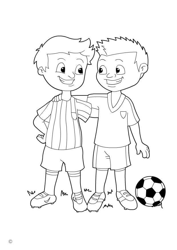 Dibujo para colorear juego limpio - Img 26144