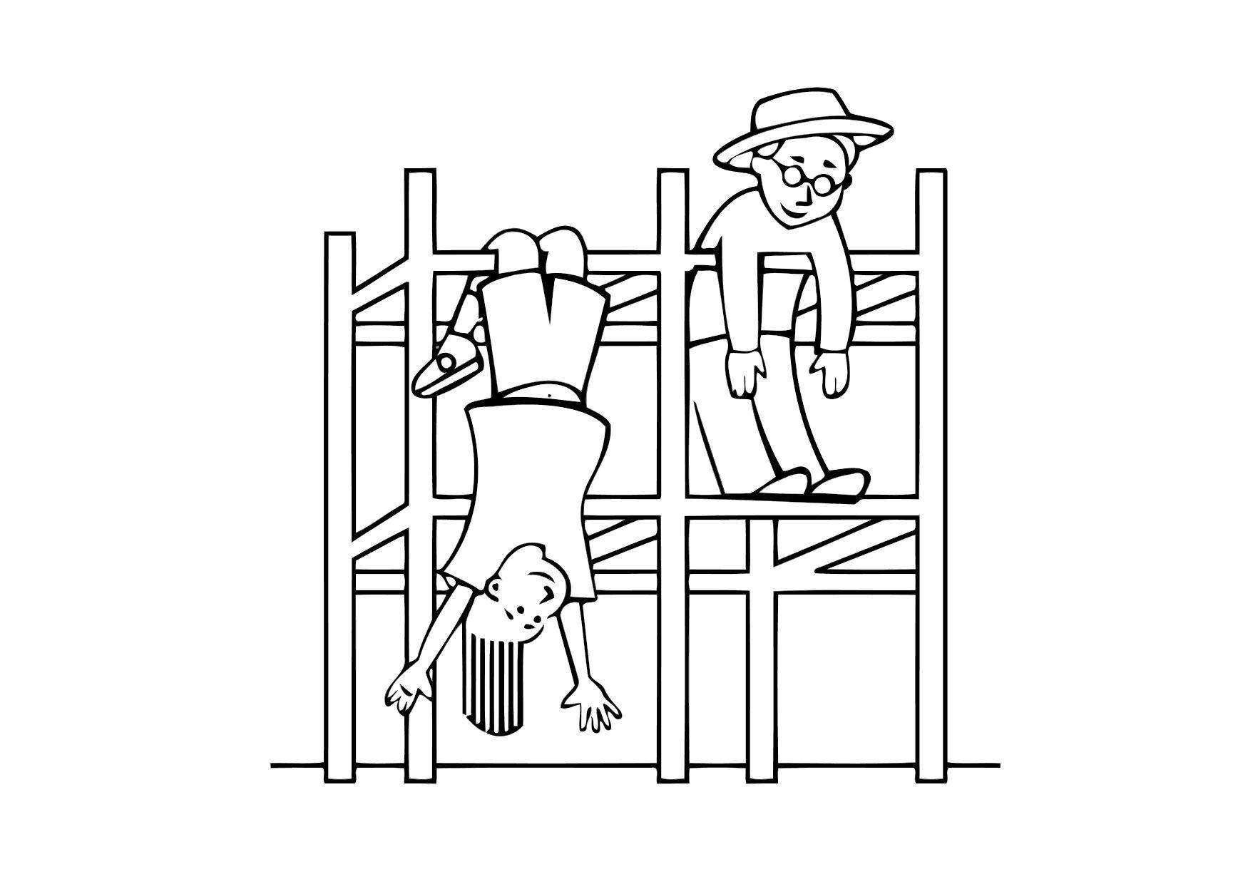 Dibujo para colorear Juego para trepar - parque infantil - Img 11337