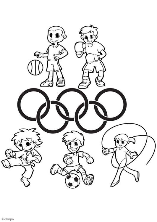 Dibujo para colorear juegos olímpicos - Img 26044