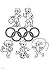 Dibujo para colorear juegos olímpicos