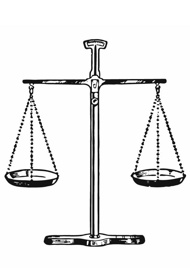Dibujo para colorear Juez  balanza de justicia  Img 13285