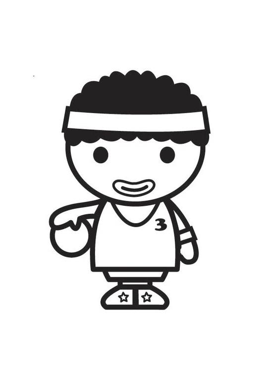 Dibujo para colorear jugador de baloncesto - Img 18178