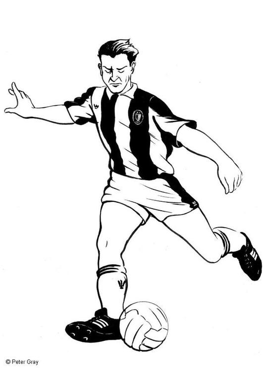 Dibujo para colorear Jugador de fútbol - Img 9038
