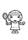 Dibujo para colorear jugador de tenis