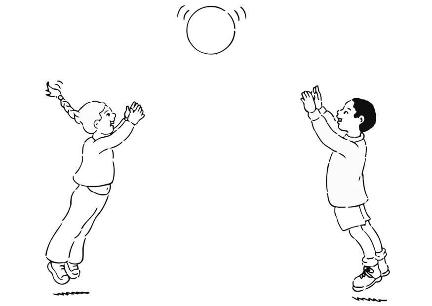 Dibujo para colorear jugar a la pelota - Img 20960