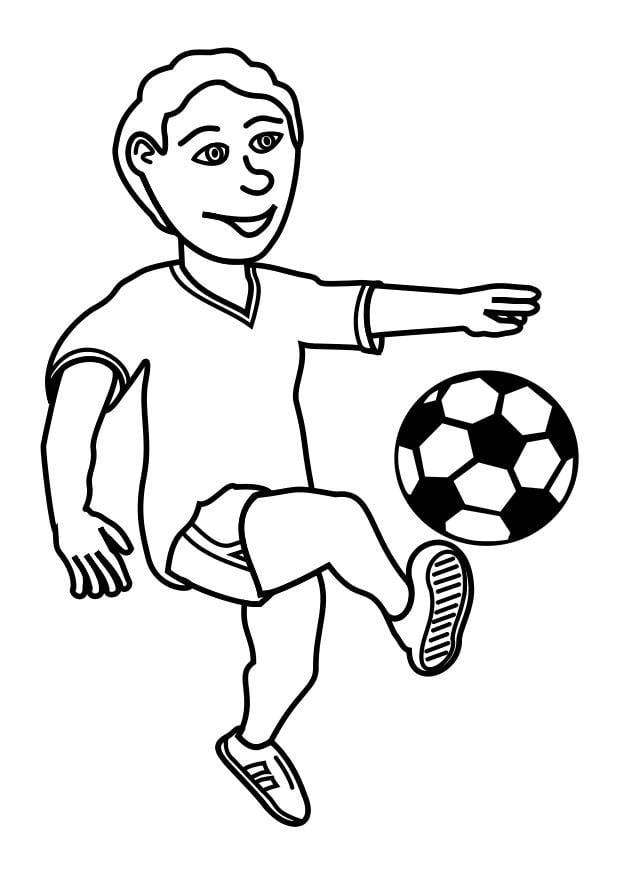 Dibujo para colorear jugar al fútbol - Img 27619