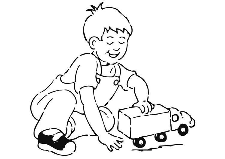 Dibujo para colorear jugar con coche - Img 20931