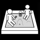 Dibujo para colorear Jugar en la caja de arena