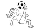 Dibujo para colorear jugar futbol