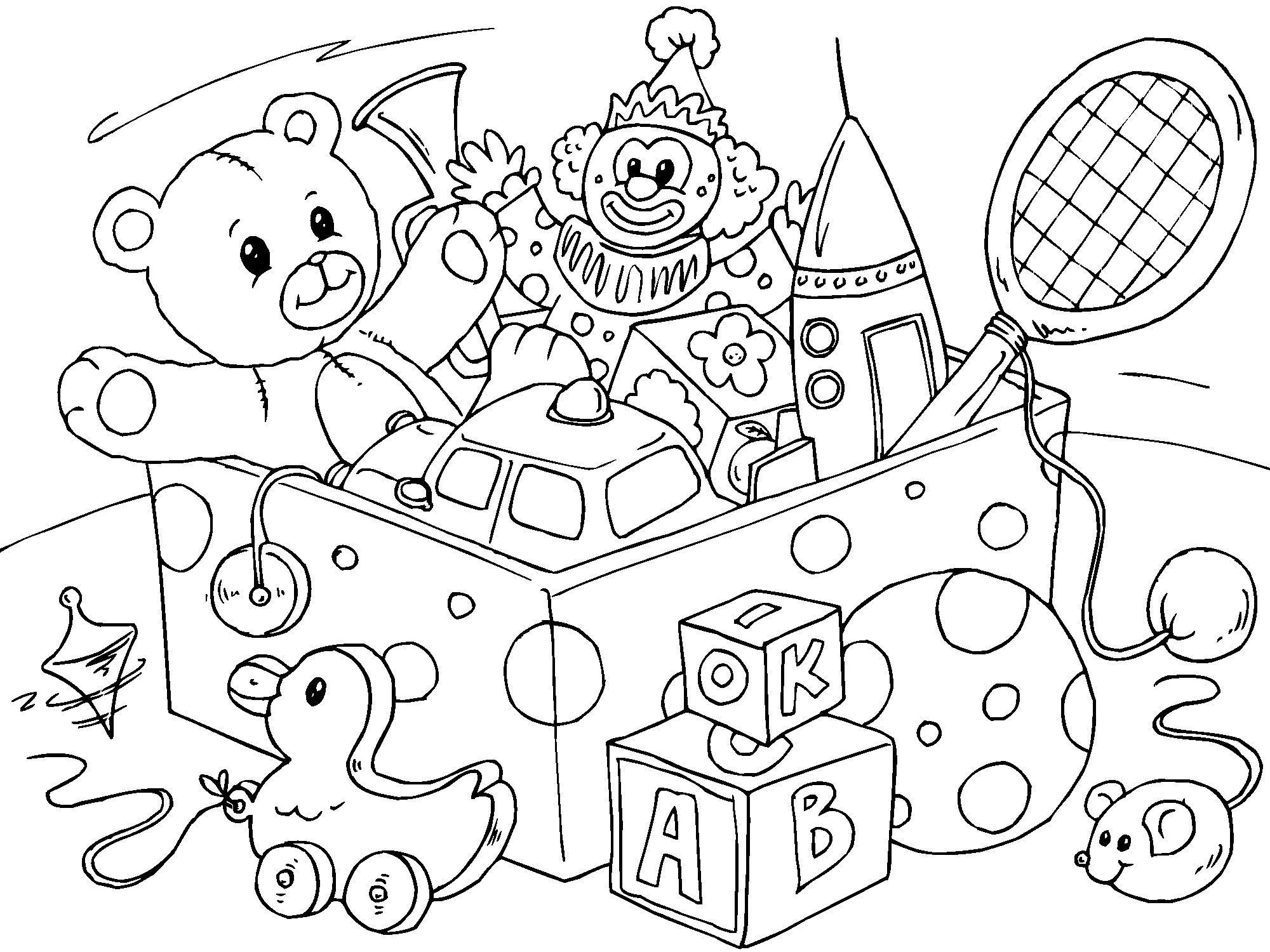 Juguetes Para Colorear Pintar E Imprimir: Dibujo Para Colorear Juguetes