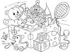 Dibujo para colorear juguetes