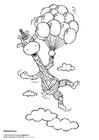 Dibujo para colorear Juul volando