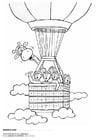 Dibujo para colorear Juul y sus amigos en un globo