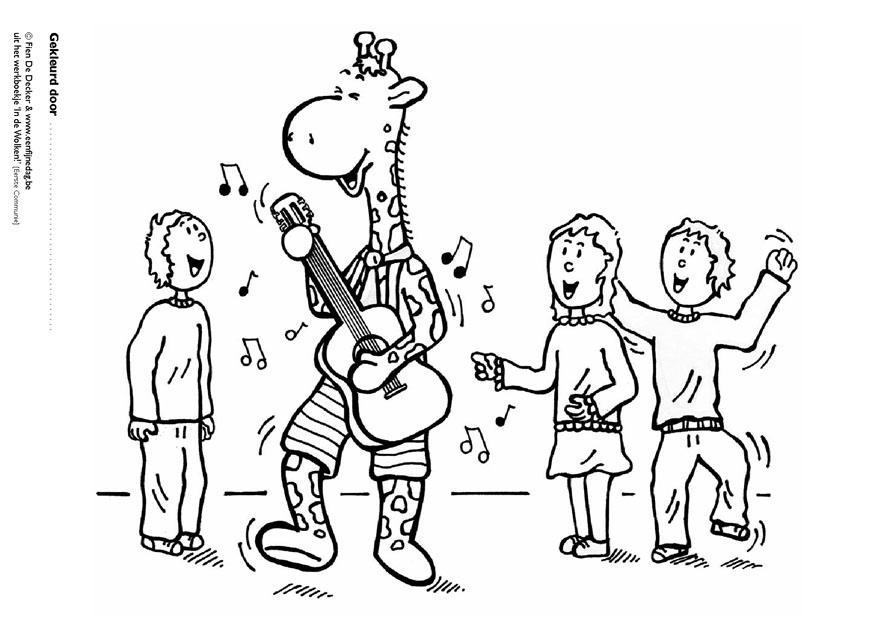 Dibujo Para Colorear Juul Y Sus Amigos Tocando Música Img 9704
