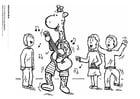 Dibujo para colorear Juul y sus amigos tocando música