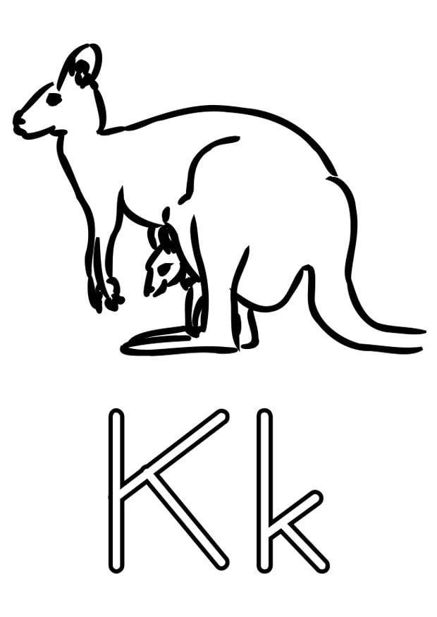 Dibujo para colorear k - Img 22489