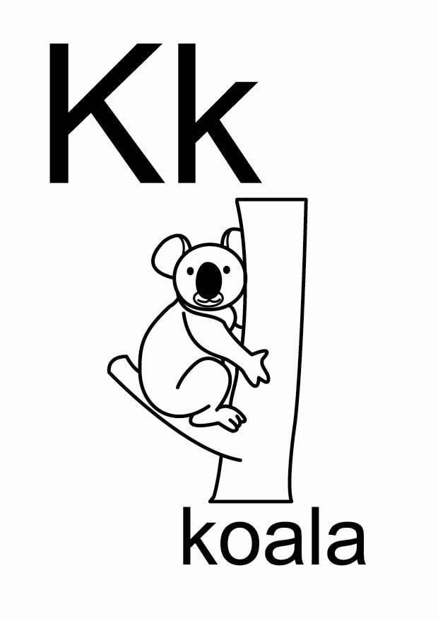 Dibujo para colorear k - Dibujos Para Imprimir Gratis ...