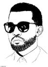 Dibujo para colorear Kanye West