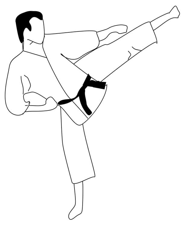 Dibujo para colorear Karate - Img 16116