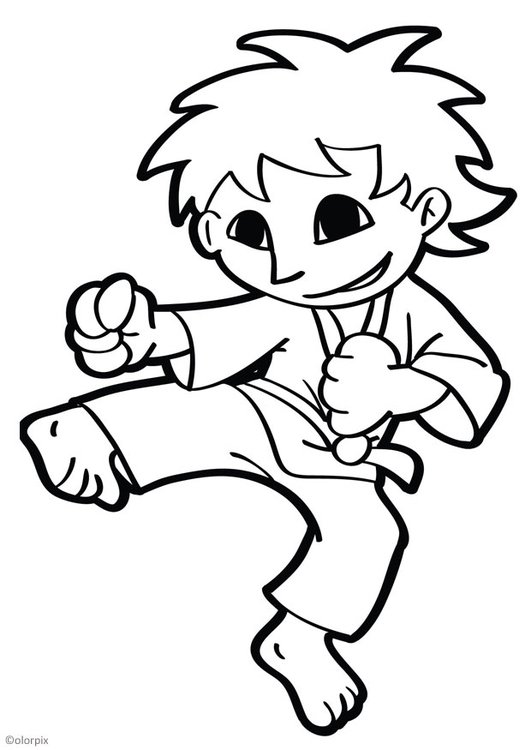 Dibujos Para Colorear Karate