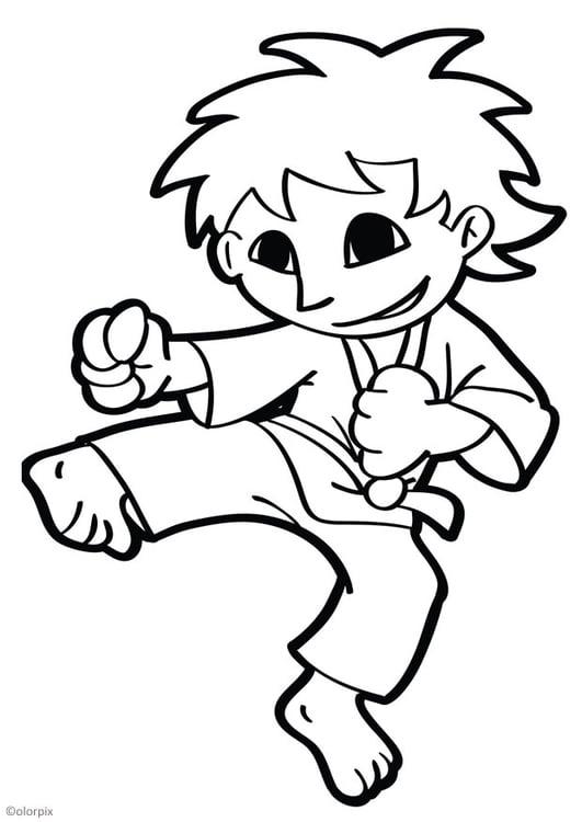 Dibujo Para Colorear Karate Img 26049 Images