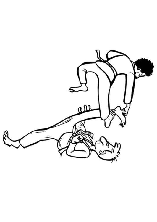 Dibujo Para Colorear Karate Img 10128 Images
