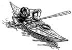 Dibujo para colorear Kayak