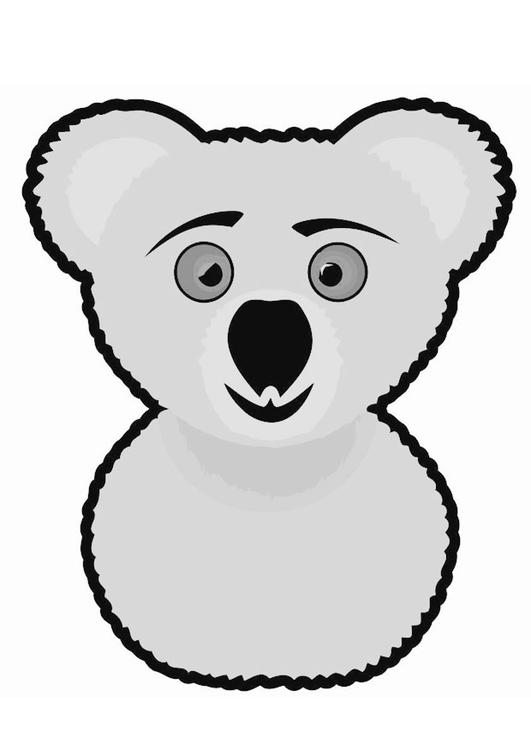 Dibujo Para Colorear Koala Dibujos Para Imprimir Gratis