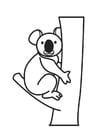 Dibujo para colorear koala