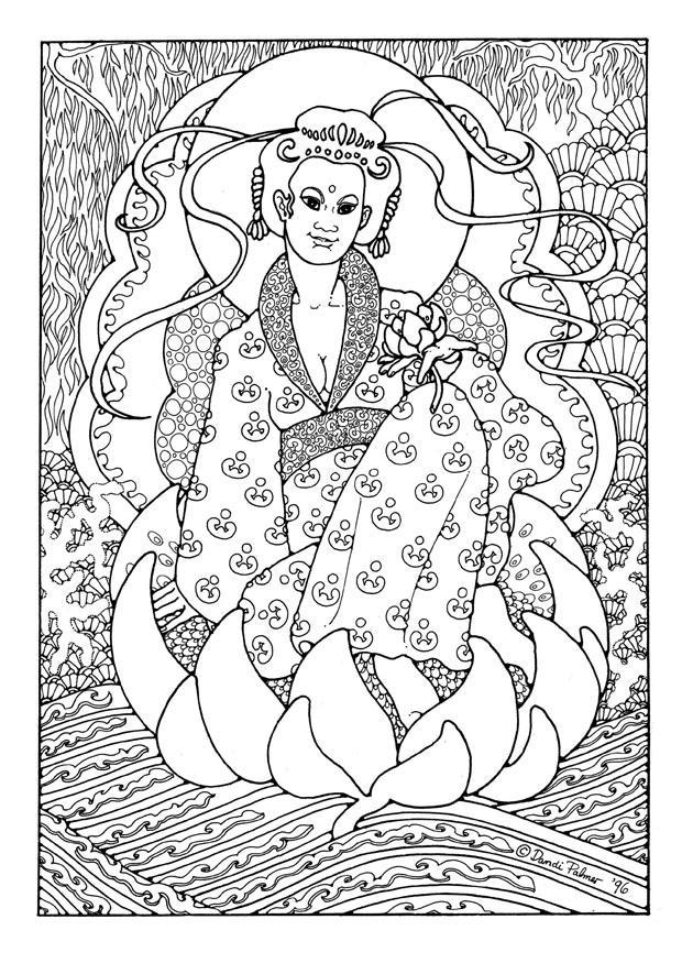 Dibujo Para Colorear Kuan Yin Img 16247