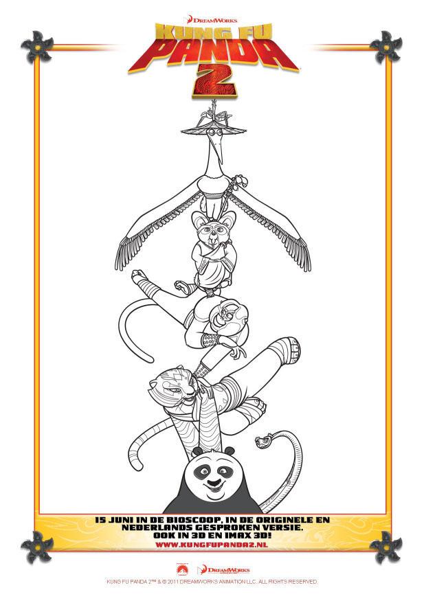 Dibujo para colorear Kung Fu Panda 2 - Img 22409