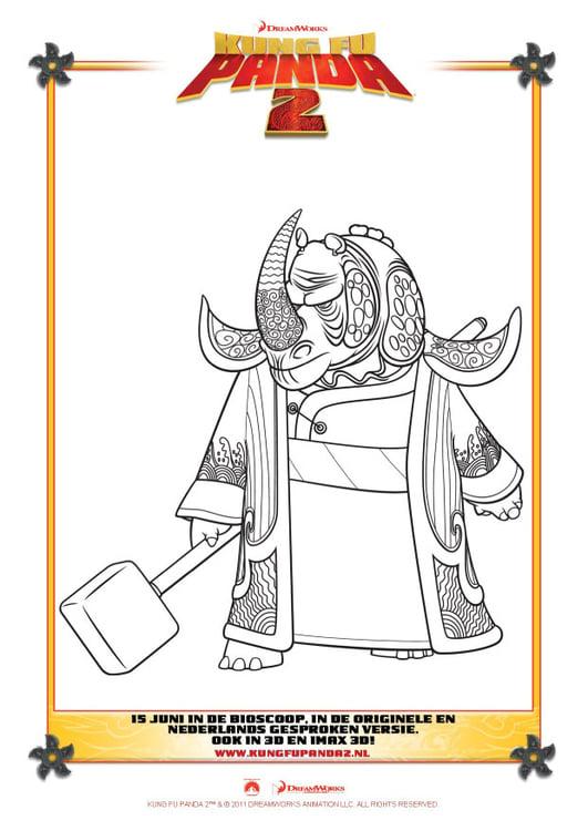 Dibujo para colorear Kung Fu Panda 2 - Img 22397